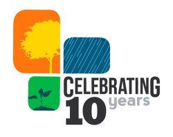 Celebrating 10 Logo